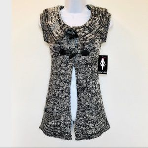 PAPER DOLL⚡️Speckled Knit Cardigan Vest_M
